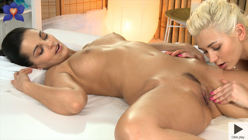 Free hq massage rooms young horny lesbians enjoy dirty sex and a big orgasm porn photo